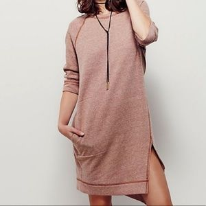 Free People Beach Womens Cozy Sweatshirt Dress